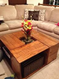 Pretty Maple Wooden Coffee Table With Storage With Rattan Basket Diy Rustic  Wooden Coffee Table ...