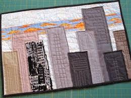 20 best City Skyline Art Quilt Inspiration images on Pinterest ... & the Last of the Ticker Samples! City scape mug rug inspiration - make SF  skyline? Adamdwight.com