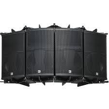 concert speakers system. pa system + arrays speakers +outdoor concert loudspeaker m