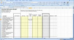Renovation Construction Budget Spreadsheet: Implementing ...