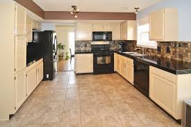 Calm Kitchen Tile With White Furnitures And Black Lorena R Papa Has 0  Subscribed Credited From