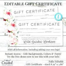 Custom Gift Certificate Templates Free Personalized Gift Certificates Template Free Fiddler On Tour
