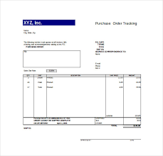 po tracker 10 order tracking templates free sample example format download