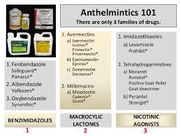 Anthelmintics 101 Charts