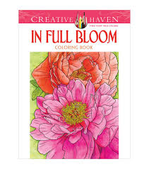 Creative Haven Floral Design Color By Number Coloring Book Adult Coloring Book Creative Haven In Full Bloom Coloring
