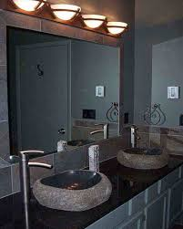 contemporary bathroom lighting fixtures. Delighful Bathroom Contemporary Bathroom Light Fixtures Modern Design Two Wash  Basin Table Mirror Intended Lighting O