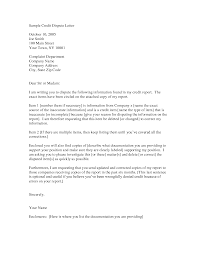 credit dispute letter best business template with credit dispute letter template