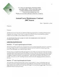 landscape maintenance proposal template commercial lawn mowing contracts awesome lawn maintenance bid