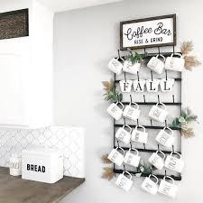 These coffee mug holders use a variety of woodworking techniques and can be adapted for anyone's skill level. Metal Coffee Mug Rack Large 6 Row Wall Mounted Storage Display Organizer Rack For Coffee Mugs Tea Cups Mason Jars And More 38 X 20 5 X 3 Walmart Com Walmart Com
