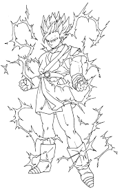 Coloriage Dragon Ball Z Sangohan Imprimer Ancenscp Coloriage