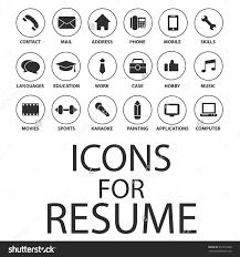 icons set your resume cv job stock vector 357219386 shutterstock icons set for your resume cv job