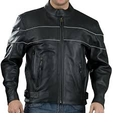 details about black premium quality leather 1 4mm vented cruiser motorcycle jacket 239