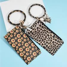 2019 <b>Sunflower</b> Round Bracelet <b>Wallet Luxury</b> PU <b>Leather</b> Tassel ...