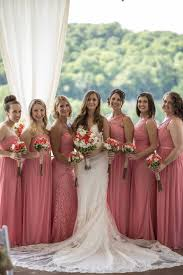 's Bridal Parfait Bridesmaids Coral Wedding David Dresses Summer UXqRxY