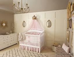 pink grey and gold vintage nursery