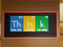 Stem bulletin board for school, periodic table think | my ...