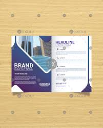 Abstract Design Company Modern Bi Fold Business Brochure Template With Abstract Design Uxoui