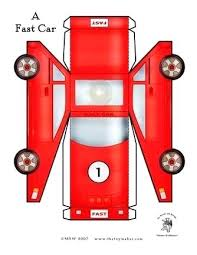 Paper Car Template Printable Pattern Use The Outline For Crafts ...