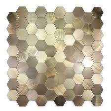 enchanted metals 12 in x 12 in copper aluminum hexagon l