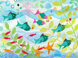 oopsy daisy friendly fish wall art