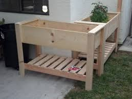 Image of: Raised Planter Boxes On Legs