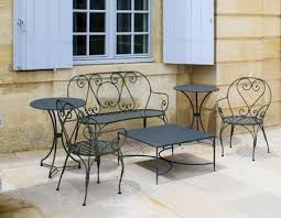 black wrought iron patio furniture. Black Wrought Iron Chairs And Table Patio Furniture