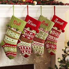 christmas stockings with names.  With Knit ArgyleSnowflake Personalized Stockings Intended Christmas With Names Personal Creations