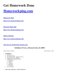 core advanced java j ee syllabus get homework done homeworkping com homework help homeworkping