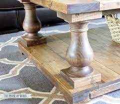 Herringbone Coffee Table, Wood Legs rustic-coffee-tables