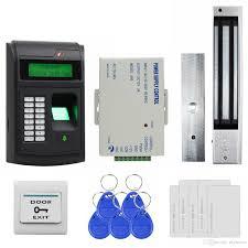 2018 diy access control system 125khz rfid lcd biometric fingerprint keypad id card reader kit electric magnetic lock 208i s from diysecur