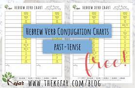 Past Tense Verb Chart Conjugate Hebrew Verbs In The Past Tense Freebie The Kefar