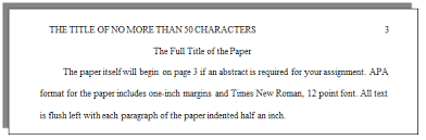 How Do I Set Up A Paper With Apa Formatting Cwi