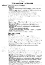 Supply Chain Resume Supply Chain Supervisor Resume Samples Velvet Jobs 90