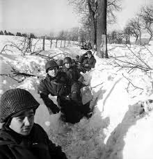 battle of the bulge  rare photos from hitler    s last gamble   timeamerican troops in a snow filled trench during the battle of the bulge