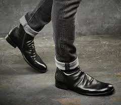 men casual deep blue nubuck ankle boots mens fashion shoes winter bootsfashion men leather boot for