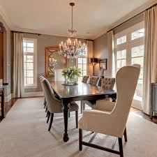elegant furniture and lighting. Traditional Crystal Chandelier With Elegant Tufted Chairs For Impressive Dining Room Remodeling Ideas Sage Green Wall Color Furniture And Lighting I