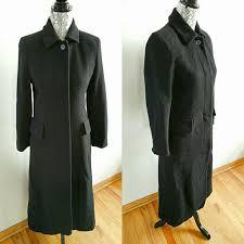Albert Nipon Size Chart Albert Nipon Black Classic Long Wool Coat 1petite