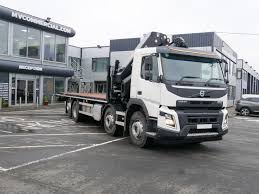 32 Tonne Volvo Fmx 460 Hydraulic Beavertail With Hiab Crane
