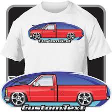 Custom Art T-Shirt 1988-98 GMC Sierra Chevy 1500 Silverado Long Bed ...