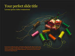Dark Background With Threads And Flowers Powerpoint Template And Google Slides Theme