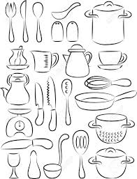 Cooking Utensils Drawing 20 18 Kitchen Coloring Pages photosheepme
