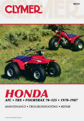 honda atv manuals diy repair manuals clymer honda atc series fourtrax atv 1970 1987 service repair manual