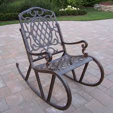 oakland living mississippi aluminum rocking chair with woven seat