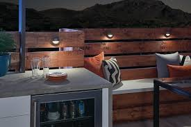 deck lighting. Deck And Patio Lighting - Outdoor Wet Bar (Night)