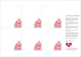 Free Card Templates Free Escort Card Templates