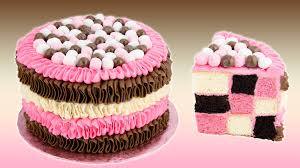 Checkerboard Neapolitan Cake Recipe from Cookies Cupcakes and