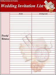 sample wedding guest list 3 free sample bridal shower guest list Wedding Invitations Guest List Templates wedding invitation spreadsheet template wedding invitation ideas wedding invitation list templates