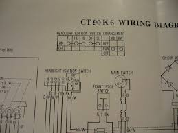 ct90 electrical system stator rectifier wiring in the from what i can tell in 1976 k6 user manual diagram the light switch on the right handle bar has two a two pole switch