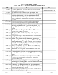 Event Checklist Template Word Event Planning Format U Template