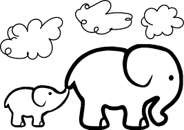 Small Picture Baby Elephant And Adult Elephant Coloring Page Wecoloringpage